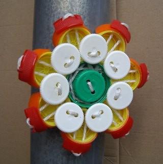 Plastic Bottle Cap Flower Pieces Urban Capping Plastic