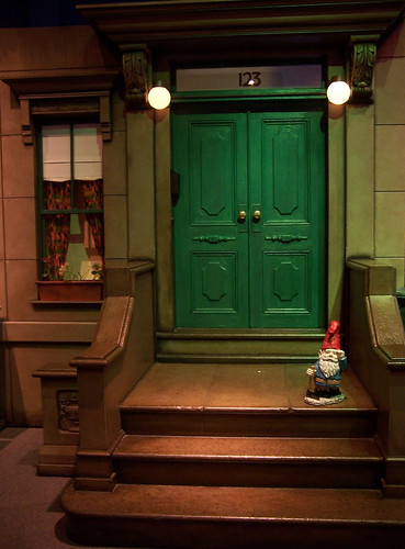 Sesame Street Stoop Just As The Sun Was Going Down I Saw