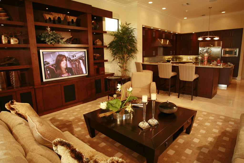 Flatscreen In The Living Room A Bta Home In Boca Raton Fl Flickr