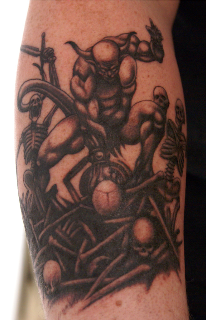Kreator tattoo | Done by Kai Müsch at In Memoriam, Koblenz | Elena ...