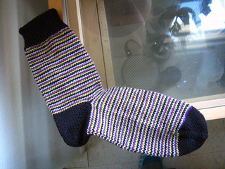 helical striped sock | by if time exists