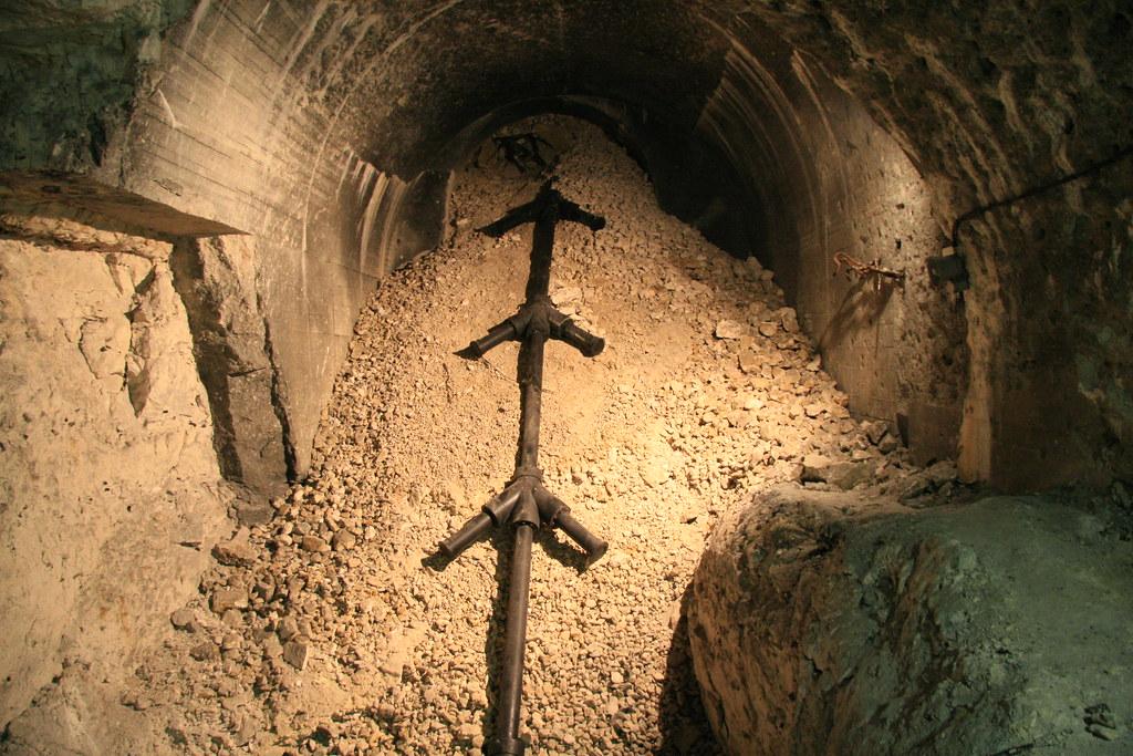 Barrel of V3 super-weapon at Mimoyecques