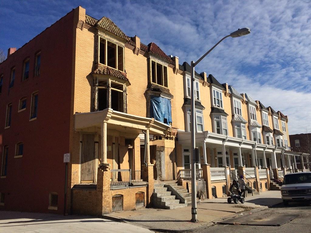 Rowhouse rehabilitation, 914–916 Whitelock Street, Baltimore, MD 21217