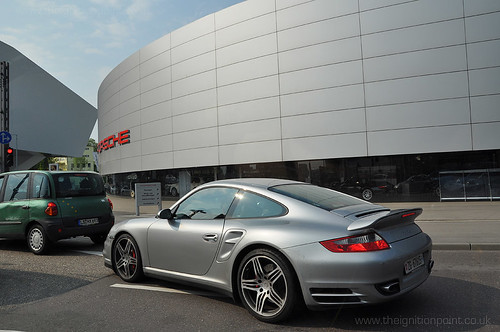 Porsche 911 Turbo At Porsche Dealer Stuttgart Germany Op