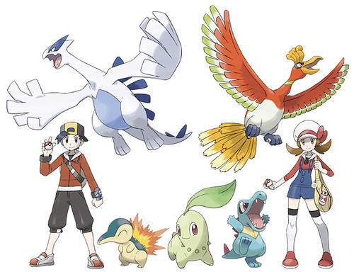 Pokemon heart gold and soul silver artworks this game - Evolution pokemon argent ...