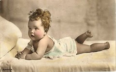 Vintage Postcard ~ Chubby Baby Girl | chicks57 | Flickr