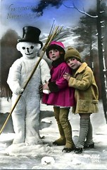 Vintage Postcard ~ Snowman | by chicks57