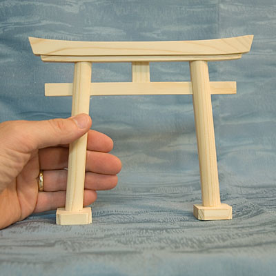 Japan Shinto Shrine Gate Small Wooden Model Torii Mon