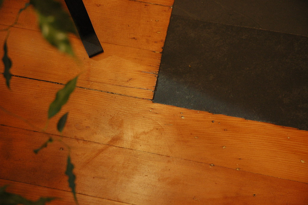 Detail Of Inlayed Slate And Refinished Wood Floor Makeove Flickr