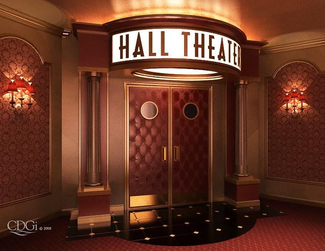 """Arcadia"" Theater Lobby Design"