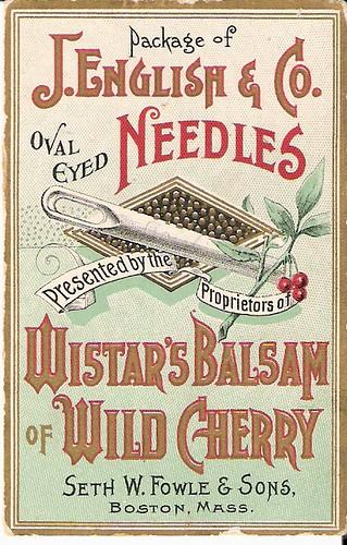 Victorian Trade Card Wistar S Balsam David Berry Flickr