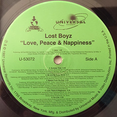 LOST BOYZ:LOVE,PEACE AND NAPPINESS(LABEL SIDE-A)