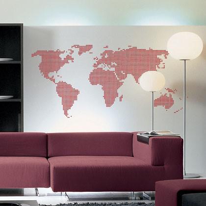 stickers mappemonde pixels 1 fanastick stickers. Black Bedroom Furniture Sets. Home Design Ideas