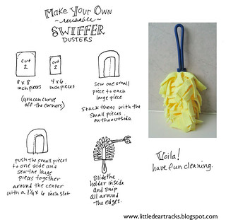 MAKE YOUR OWN swiffer duster instructions | by merwing✿little dear