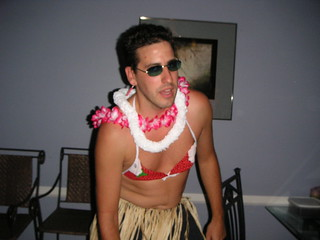 Darren at Mikey's Hawaiian party | by asmythie