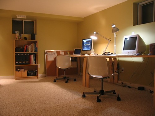 basement office corner whew this project is finally alm