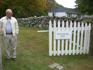 Paul W. Ingle at wife's family cemetery, Mystic | by WNPR - Connecticut Public Radio
