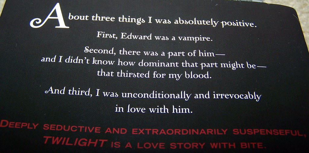 Image result for twilight back cover