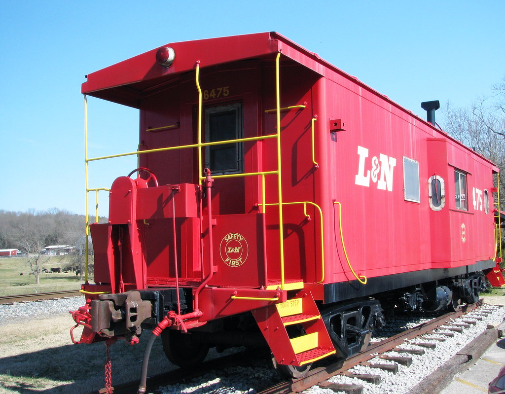 Thompsons Station Ln Caboose This Red Ln Caboose Is