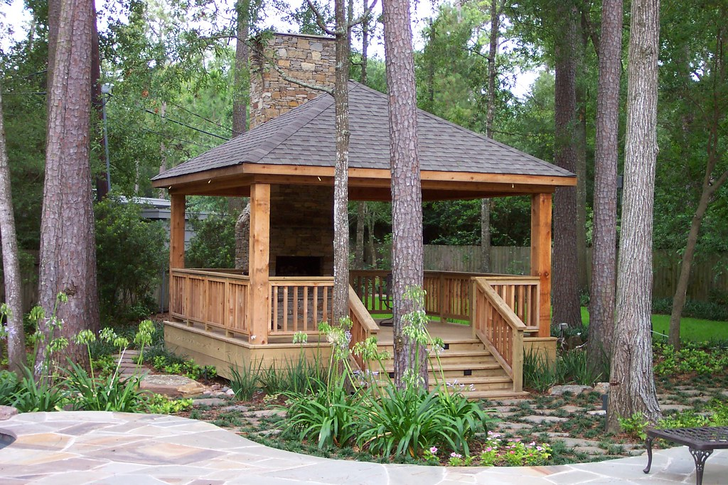 Country Gazebo And Fireplace Coutry Gazebo With
