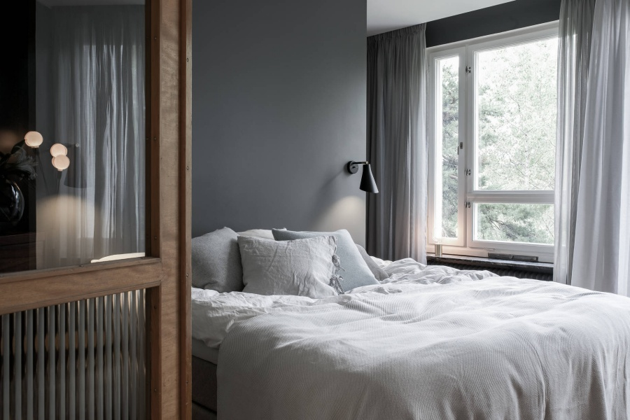 Scandinavian Home With A Stunning Grey Bedroom