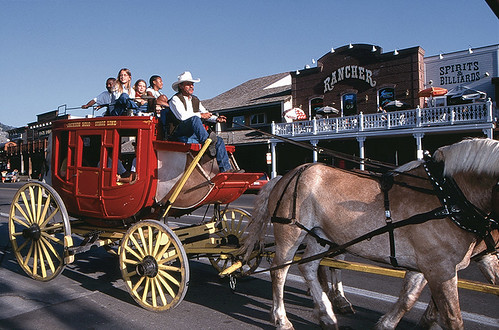 Stagecoach Rides Around The Jackson Hole Town Square Flickr