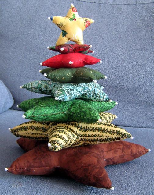 Arbolito de tela este es el arbolito de navidad que me - Arboles de navidad de tela ...