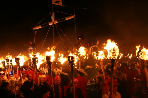 Up Helly Aa: squads and the boat | by reynard
