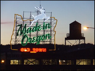 The Made in Oregon sign, formerly White Stag | by p medved