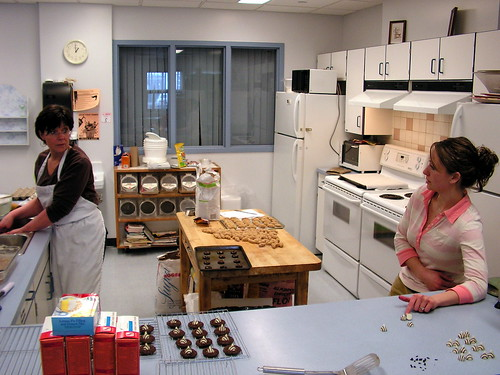Sharon and Cindy prepare baking in the Community Kitchen | by Salvation Army Saskatoon Community Centre