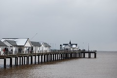 grey pier snow easter sunday southwold 2008 | by overmilkwood
