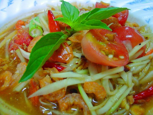 "Thai Food with LoVE..LOvE... for you...""Green PaPaYa Salad"" 