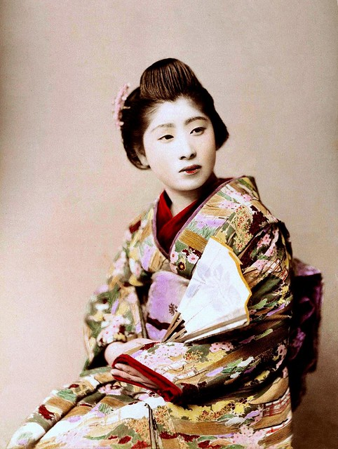 Japanese Geisha Women Tickled With Paint Brushes