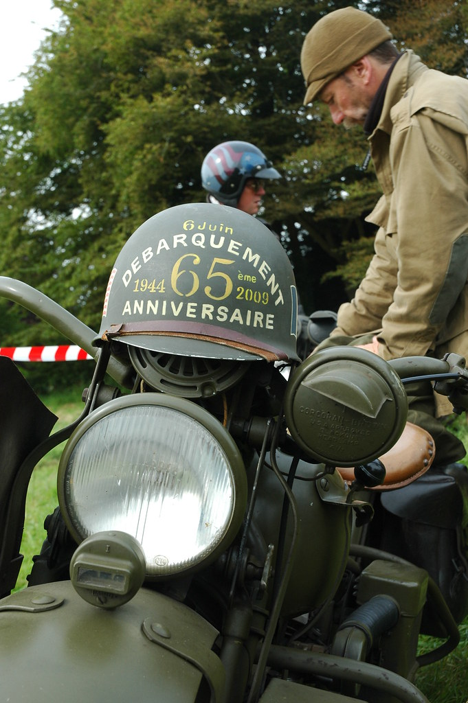 65 Harleys At 65th Anniversary Of D Day