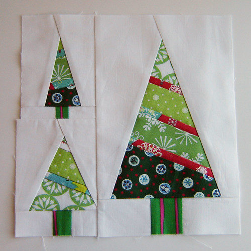 Christmas Fabric Bee Blocks - Christmas Trees | by Marci Girl Designs