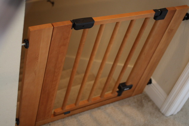 Wooden Pressure Baby Gate 35 This Worked Wonderfully Fo Flickr