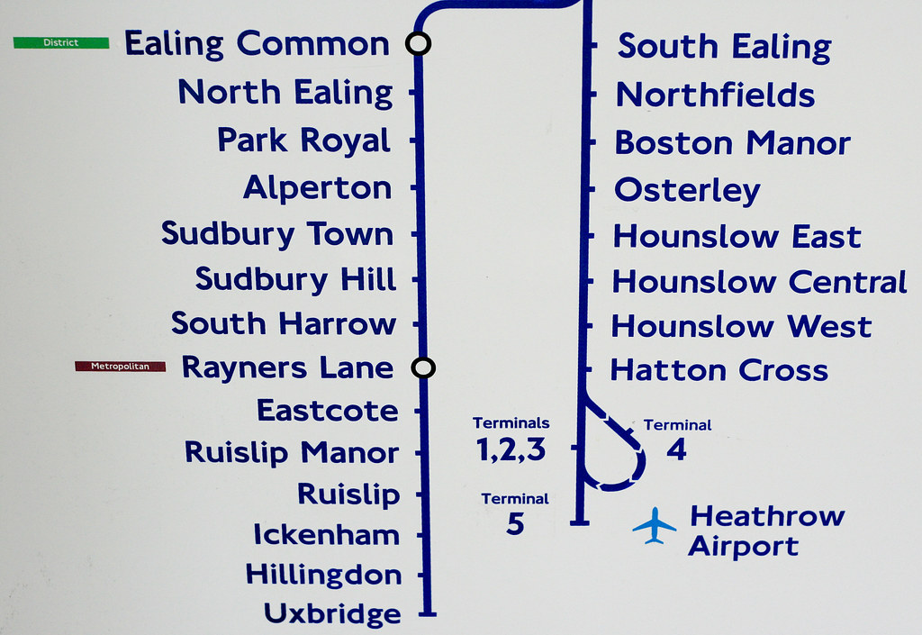 new piccadilly line map terminal 5 added see where this p flickr