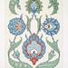 études de feuilles & de fleurons peints sur faïence (grandeur d'exécution)