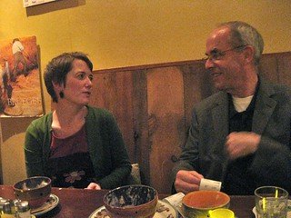 a delicious and delightful dinner with sarah and lee rainie at zazie | by davidsilver