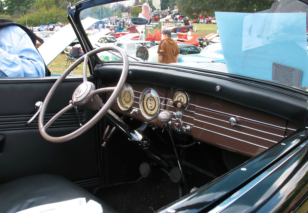 1936 Lincoln Model K Dash Dashboard And Interior Of 1936