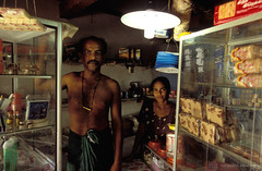 Solar energy is used to light a village shop | by World Bank Photo Collection