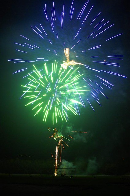 The gallery for --> Blue And Green Fireworks