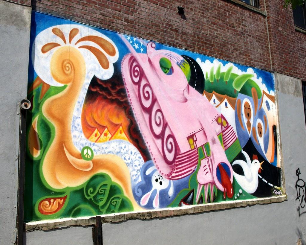 Graffiti Mural, Hunts Point, South Bronx NYC | Barretto ...