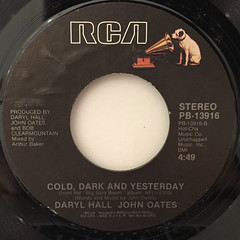 DARYL HALL & JOHN OATES:OUT OF TOUCH(LABEL SIDE-B)