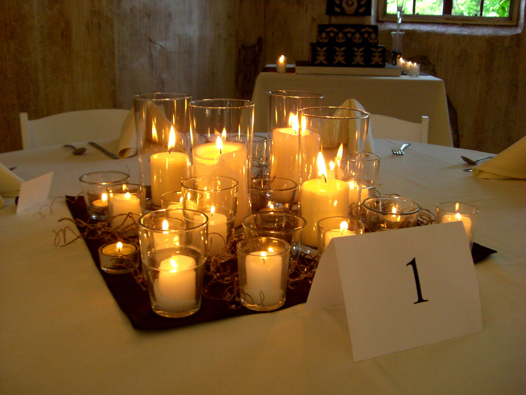 candle only centerpieces wedding decor tons of candles