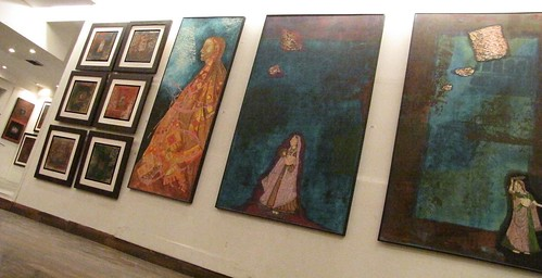 mixed media mughul art at nairang gallery lahore by mirza bashir / adil qazi | by mix media art by bashir ahmad. adil qazi