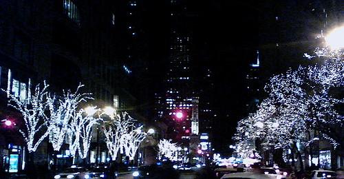 Michigan Avenue Christmas lights | Sandy Malnekoff | Flickr