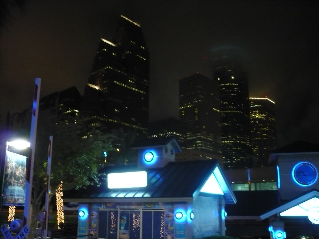 A View From The Aquarium Restaurant Of Downtown Houston
