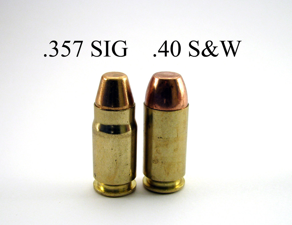 357 SIG vs .40 S&W w/description | .357 SIG is a .40 sized ...