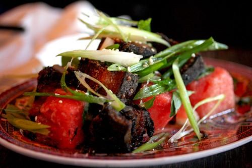 Watermelon Pickle and Crispy Pork Salad | Fatty Crab OMG ...